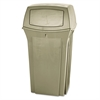 Rubbermaid Commercial Ranger Fire-Safe Container, Square, Structural Foam, 35gal, Beige