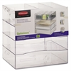 Rubbermaid Optimizers Four-Way Organizer with Drawers, Plastic, 10 x 13 1/4 x 13 1/4, Clear
