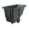 Rubbermaid Commercial Tilt Truck, Rectangular, Plastic w/Steel Frame, 300lb Cap, Black