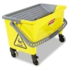 Rubbermaid Commercial HYGEN HYGEN Press Wring Bucket for Microfiber Flat Mops, Yellow