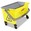 Rubbermaid Commercial HYGEN HYGEN Press Wring Bucket for Microfiber Flat Mops, Yellow