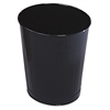 Rubbermaid Commercial Fire-Safe Wastebasket, Round, Steel, 6 1/2 gal, Black, 6/Carton