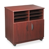 Safco Laminate Machine Stand w/Sorter Compartments, 28w x 19-3/4d x 30-1/4h, Mahogany