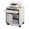 Safco Office Machine Mobile Floor Stand, One-Shelf, 19w x 18-1/4d x 22-1/2h, Gray