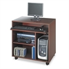 Safco Ready-to-Use PC Workstation, 31-3/4w x 19-3/4d x 31-1/2h, Mahogany Laminate Top