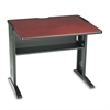 Safco Computer Desk W/ Reversible Top, 35-1/2w x 28d x 30h, Mahogany/Medium Oak/Black