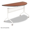 Safco Impromptu Series Mobile Training Table Top, Half Round, 48w x 24d, Cherry