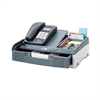 Telephone Organizer Stand, 1 Drawer, 14 3/4 x 10 1/2 x 4 1/4, Gray