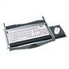 Safco Premium Keyboard Drawer, 23-1/4w x 20-1/4d, Charcoal
