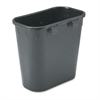 Safco Paper Pitch Recycling Bin, Rectangular, Polyethylene, 1.75gal, Black