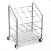 Wire Roll/File, 12 Compartments, 18w x 12-3/4d x 24-1/2h, Gray