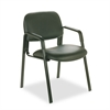 Cava Collection Straight-Leg Guest Chair, Black Vinyl
