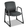 Safco Uber Series Big & Tall Sled Base Guest Chair, Vinyl, Black