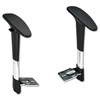 Safco Adjustable T-Pad Arms for Metro Series Extended-Height Chairs, Black/Chrome