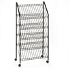 Safco Mobile Literature Rack, 32-1/2w x 15-1/4d x 63-1/2, Charcoal