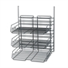 Safco Panelmate Triple-Tray Organizer, 13 1/2 x 17 1/4, Charcoal Gray