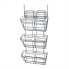 Panelmate Triple-File Basket Organizer, 15 1/2 x 29 1/2, Charcoal Gray