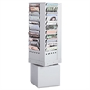 Safco Steel Rotary Magazine Rack, 44 Compartments, 14w x 14d x 48h, Gray