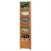 Safco Solid Wood Wall-Mount Literature Display Rack, 11-1/4 x 3-3/4 x 48, Medium Oak