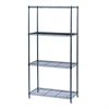 Commercial Wire Shelving, Four-Shelf, 36w x 18d x 72h, Black