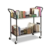 Safco Wire Book Cart, Steel, Four-Shelf, 44w x 18-3/4d x 40-1/4h, Black
