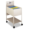 Safco Extra-Deep Locking Mobile Tub File, 16-1/2w x 24-3/4d x 28-1/4h, Putty