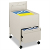 Locking Mobile Tub File With Drawer, Legal Size, 20w x 25 1/2d x 27 3/4h, Putty