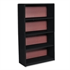 Value Mate Series Metal Bookcase, Four-Shelf, 31-3/4w x 13-1/2d x 54h, Black