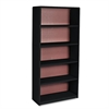 Safco Value Mate Series Metal Bookcase, Five-Shelf, 31-3/4w x 13-1/2d x 67h, Black
