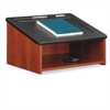 Safco Tabletop Lectern, 24w x 20d x 13-1/2h, Cherry/Black