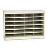 Safco Steel/Fiberboard E-Z Stor Sorter, 24 Sections, 37 1/2 x 12 3/4 x 25 3/4, Sand