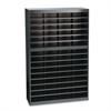 Steel/Fiberboard E-Z Stor Sorter, 60 Sections, 37 1/2 x 12 3/4 x 60, Black