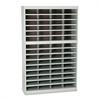 Safco Steel/Fiberboard E-Z Stor Sorter, 60 Sections, 37 1/2 x 12 3/4 x 60, Gray