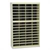 Safco Steel/Fiberboard E-Z Stor Sorter, 60 Sections, 37 1/2 x 12 3/4 x 60, Sand