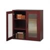 Après Two-Door Cabinet, 29-3/4w x 11-3/4d x 29-3/4h, Mahogany