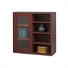 Safco Après Single-Door Cabinet w/Shelves, 29-3/4w x 11-3/4d x 29-3/4h, Mahogany