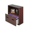 Safco Après File Drawer Cabinet With Shelf, 29 3/4w x 11 3/4d x 29 3/4h, Mahogany