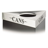 "Safco Trifecta Waste Receptacle Lid, Laser Cut ""CANS"" Inscription, Stainless Steel"