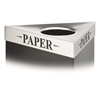 "Safco Trifecta Waste Receptacle Lid, Laser Cut ""PAPER"" Inscription, Stainless Steel"