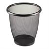 Onyx Round Mesh Wastebasket, Steel Mesh, 3qt, Black