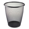 Safco Onyx Round Mesh Wastebasket, Steel Mesh, 5gal, Black