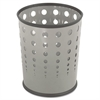 Safco Bubble Wastebasket, Round, Steel, 6gal, Gray