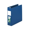 "Clean Touch Locking Round Ring Reference Binder, Antimicrobial, 3"" Cap, Blue"