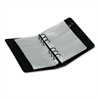 Samsill Regal Leather Business Card Binder, 120 Card Cap, 2 x 3 1/2 Cards, Black