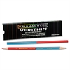 Prismacolor Verithin Double-Ended Colored Pencils, Blue/Red, Dozen