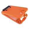 "Saunders DeskMate II w/Calculator, 1/2"" Clip Cap, 8 1/2 x 12 Sheets, Hi-Vis Orange"