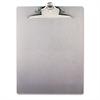 """Aluminum Clipboard w/High-Capacity Clip, 1"""" Clip Cap, 8 1/2 x 12 Sheets, Silver"""