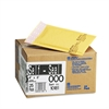 Sealed Air Jiffylite Self-Seal Mailer, Side Seam, #000, 4 x 8, Golden Brown, 25/Carton
