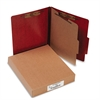 ACCO 20-Pt PRESSTEX Classification Folders, Letter, 4-Section, Red, 10/Box