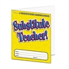 Substitute Teacher Essential Laminated Folder, PreK-6, 16 Pages